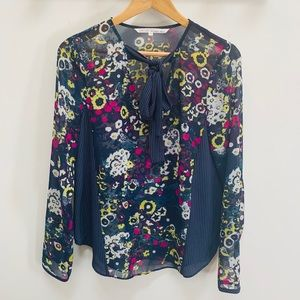 Rachel Rachel Roy floral long sleeve blouse top 4